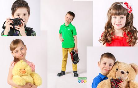 Выездная детская фотостудия. Белый фон
