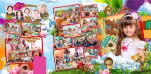 Общая фотография в детском саду. Постановочный коллаж