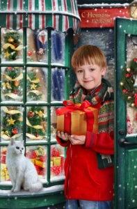Детская зимняя фотосъемка в детском саду - Витрина