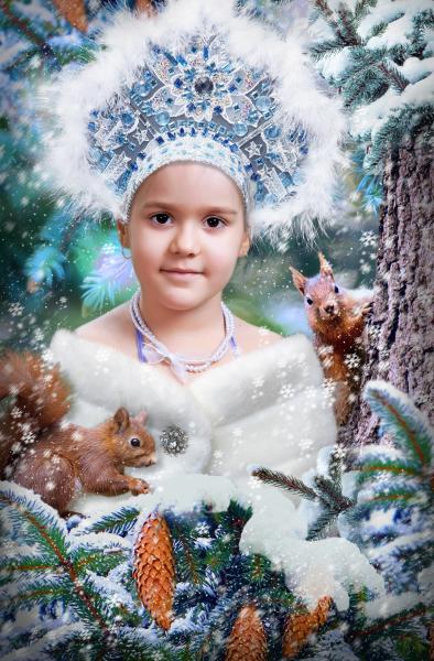 зимняя детская фотосъемка