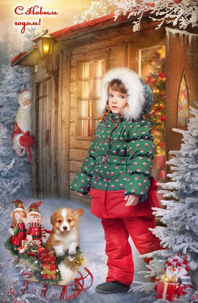 зимняя фотосъемка в детском саду