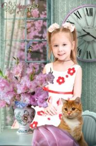 Весенняя фотосъемка портретов в детском саду. Весна
