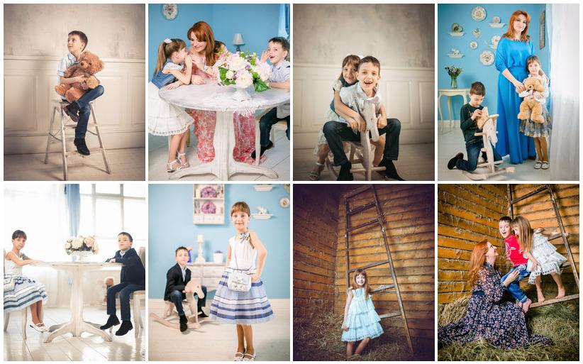 Семейная фотосессия в фото студии Коломна