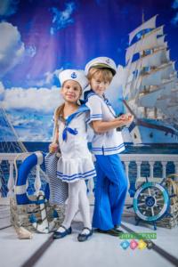 Фотосъемка на морскую тему в костюмах в детском саду