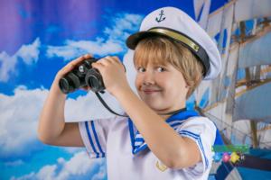 Фотограф в детский сад. Морская фотосессия. Морячок и морячка в костюмах. Морские истории