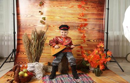 Детская выездная фотостудия с костюмами