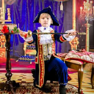 Костюмированная фотосъемка в детском саду. Царские наряды