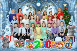 Зимний групповой коллаж Зимняя групповая фотография Общая фотография группы.