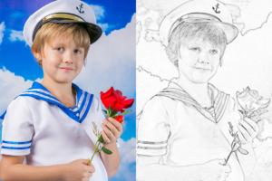 Портрет по фотографии карандашом