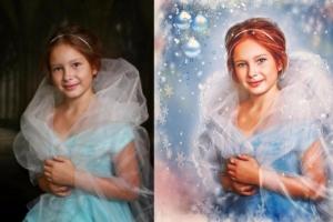 Портрет по фотографии акварель