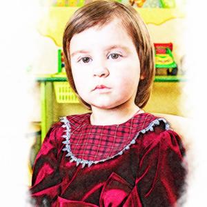 Портрет по фотографии цветными карандашами