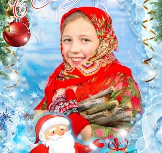 Новогодняя-открытка-детская