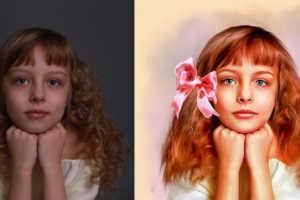 Рисуем по фотографии портреты акварелью Портрет по фото
