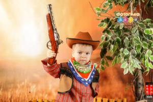Костюмированная фотосъемка Ковбои и Дикий запад Фотограф в детский сад