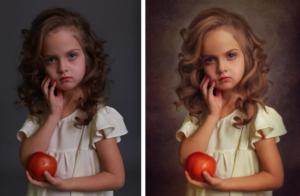 Портрет по фотографии кистью на холсте