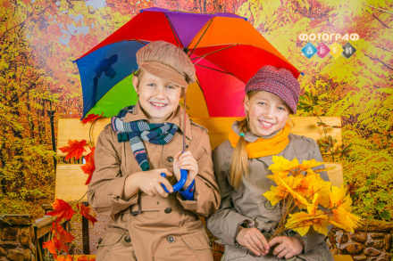 Костюмированная осенняя фотосъемка в детском саду