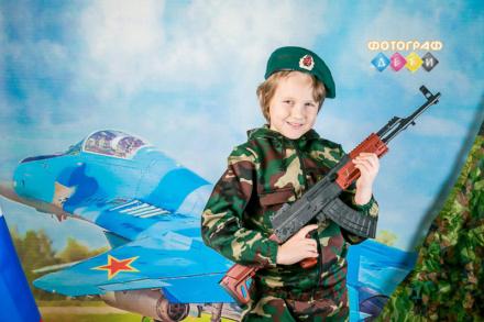 Детская фотосъемка 23 февраля костюмированная фотосессия в детском саду