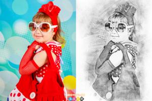 Портрет простым карандашом по фотографии