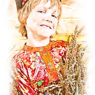 Цветными карандашами по фотографии портрет