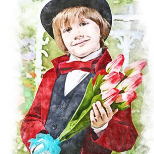 Цветными карандашами рисуем портрет по фото