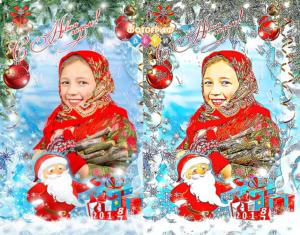 Рисунок по фото Детский портрет Мультфильм