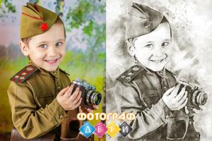 Рисуем простым карандашом детский портрет