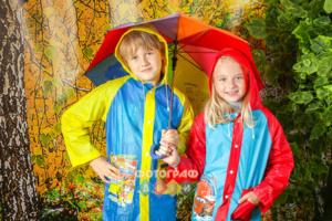 Грибники в лесу. Детская фотосъемка в детском саду