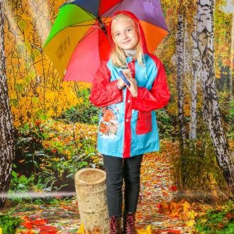 Грибники в осеннем лесу. Детская осенняя фотосъемка в костюмах