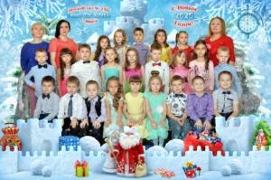 Детский групповой коллаж Снежный замок