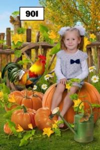 Постановочные портреты детей в детском саду. Коллаж