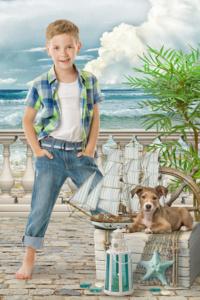 Портрет ребенка в детском саду. Коллаж