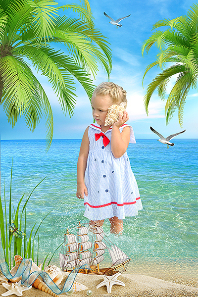 Постановочная фотосъемка в детском саду. Шаблоны для детского портрета. Коллажированные фотографии детей