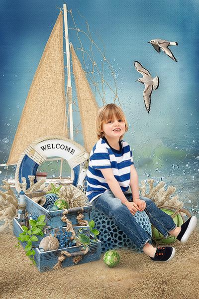 """Детская фотосъемка в стиле """"Морской бриз"""""""