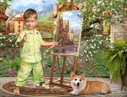 Шаблоны для детского портрета